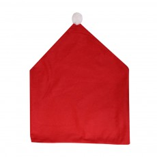 Christmas Chair Cover Santa Hat Shape Red Adornment Table Decorations Festival Atmosphere Non-woven Fabric Cover