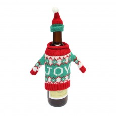 Red Wine Cover Christmas Tree Snowman Blue Deer Suit Toy Additional Hat
