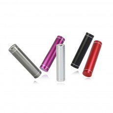 Exquisite Phone Charging Aluminum Alloy Cylinder Portable External Battery Charger USB Socket Power Bank for Cell Phone