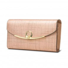 Women's Long Clutch for Shopping Dating Party, Korean Large Capacity Female Wallet, Imported Vegetable Tanned Cowhide Clutch