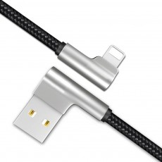 Zinc Alloy Double Elbow Data Cable, iPhone 8 Apple X Mobile Phone Charging Cable Mobile Phone Charging Data Cable