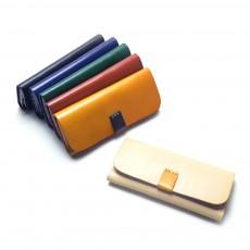Handmade Leather Japanese Glasses Bag, Vegetable Tanned Leather Glasses Case, Hit Color Leather Glasses Bag