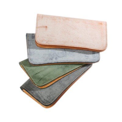 New Long Leather Cutch Fashion Vegetable Tanned Wallet for Ladies, New Handmade Suede Leather Wallet