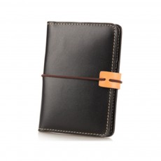 Handmade Genuine Leather Wallet, Female Multifunctional Bag with Passport, ID Holder, Leather Cowhide Passport Bag