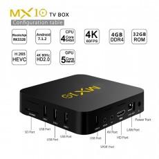 Tinkleo MX10 Kodi 17.1 Android TV Box 4G 32G RK3328 A53 3D 4K Wifi USB 3.0...
