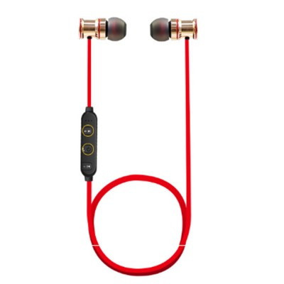 Wireless Bluetooth Earphone, Sports Magnetic Suction Ear Metal Bluetooth Headset,