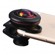 Mobile Phone Special Effect Bump Lens 238 Degree Full Screen Fun Fisheye Mobile Phone Lens, Universal External Camera Accessories