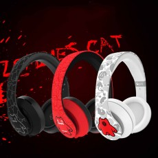 Devil Cat Sound Magic Headphones, Computer Game Music Headphones Subwoofer with Microphone, Bluetooth Earphone
