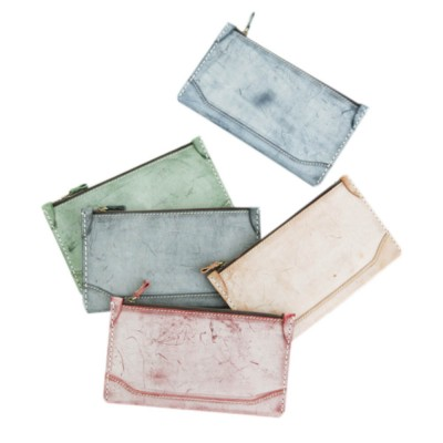 2019 New Long Wallet Vintage Handmade Vegetable Tanned Ladies Clutch, Real Leather Fog Wax Wallet