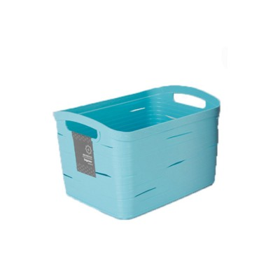Plastic Storage Basket Square Plastic Storage Basket Laundry Basket Toy Basket Imitation Rattan Storage Container