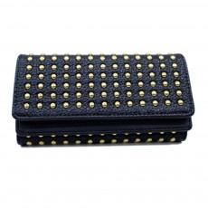 Long Double Cover Clutch, New Fashion Women wallet,European and American Pop Pun Style Rivet Handbag