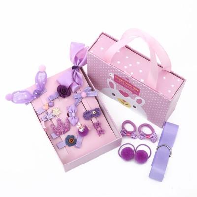 18 Pieces Set Children Korean Girls Cute Baby Hair Clip Girl Head Wear Princess Hair Card Baby Hair Accessories