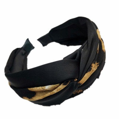 New Design Colorful Elastic Head Wrap Women Headband Twisted Leopard Knotted Hairband For Women Wide Hair Bands