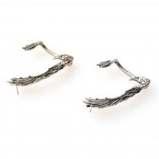 Punk Type Ear Clip for Unisex Wear Western Style Retro Ear Clip without Ear Hole Allergy-free Alloy Ear Jewelry in Eagle Pattern