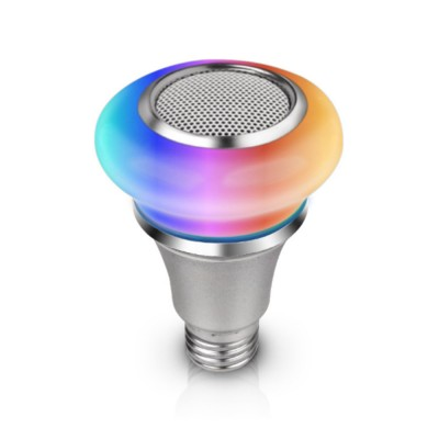 Waterproof Colorful Lighting Toy for Children's Gift Choice High Strength PC Cartoon Smart Bulb and Speaker Bluetooth Music Bulb Light