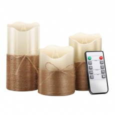 3-piece Set Led Candles Home Decoration Christmas Festivals Simulated Flame Electronic Candle Lamp With Remote Control