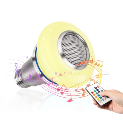 Bluetooth Music Bulb Lamp for Bedroom Coffee Café Intelligent Color Shifting Music Lamp with E27 Bulb Bluetooth Remote Control Music Lamp