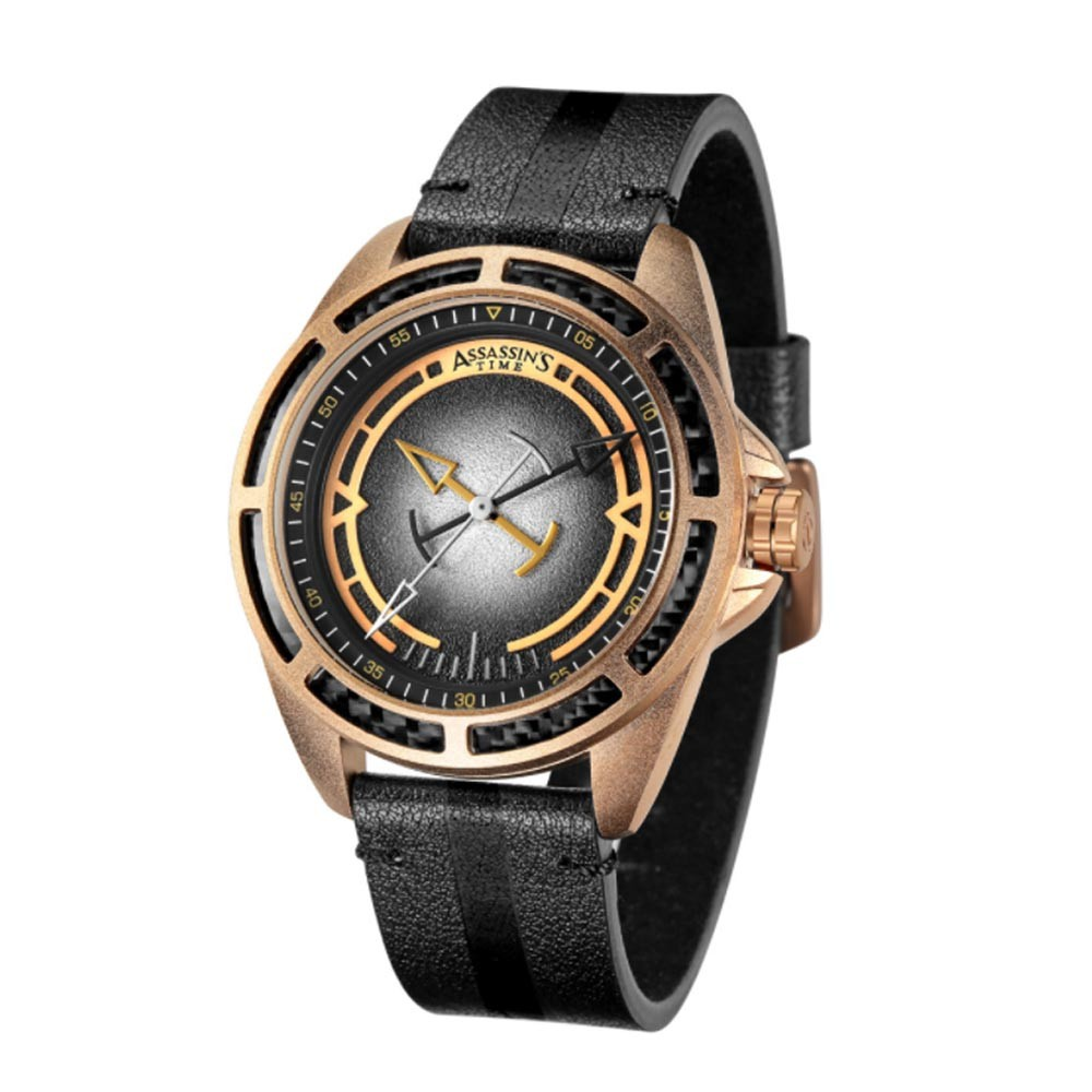 Fashionable Watch for Men with Leather Band Strap Water-proof Citizen Quartz Movement Mineral Glass Mirror