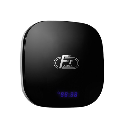 A95X F1 TV Box for Home Television Use Intelligent Airplay Display Wall-mounted Set Top Box with Android 8.1 Amlogic S905W Ethernet Wifi 2.4G HDMI