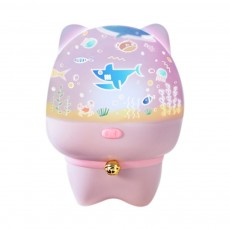 USB Rechargeable Romantic Pet Bluetooth Projection Lamp Rotation Night Lamp Speaker Box With Remote Control