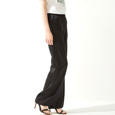 Women Plus Size Trousers with Loose Wide Leg and Mid Waist Summer Elegant Female Casual Pants