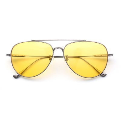 Anti Glare Night Vision Glasses with Yellow Polarized Lens and Anti-UV 400 Sunglasses for Men Night Outdoor Driving