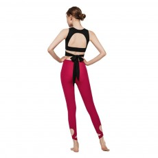 Women's Ultra Soft Yoga Suit With Strap-on Bra and High Waist Tummy Control Workout Leggings