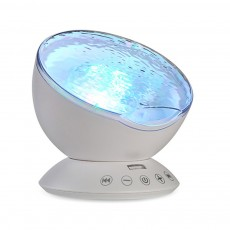 Upgraded Sea Starry Sky Night Projector Lamp with 12 LED Bulbs 7 Lighting Mode Remote Control Projector and Timer Music Player