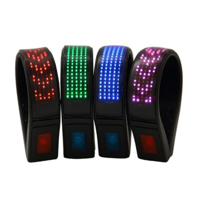 LED Display Shoe Heel Clip for Outdoors Night Riding Running Waterproof Rechargeable Shoe Clip Light Emitting Shoe Heel Clip