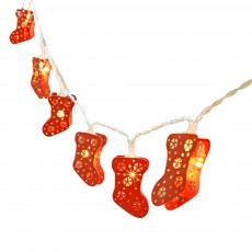 Christmas Stocking String Light for Outdoors Christmas Day Decoration LED Decorative Lighting Chains Decorative Sock Light Strings