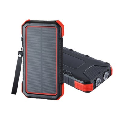 Solar Power Bank Chargers 20000mAh Portable Solar Power Bank Phone Charger with Two Type-C Port and Handle String