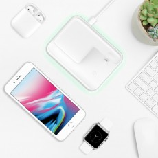 3 In 1 Qi Wireless Charger Stand for Apples iPhone AirPods iWatch Charging Pad 10W Multifunctional Fast Wireless Charger