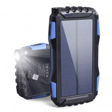Portable 25000mah Solar Power Source for Outdoors Camping Dual USB Output Mobile Power Bank Multifunctional Large Capacity Charger