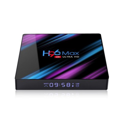 H96 MAX 4GB 64GB TV Box RK3318 Smart 4K IPTV Box with Android 9.0 5G Wifi Bluetooth 4.0