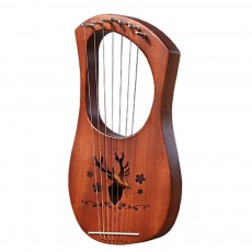 Mahogany 7-String 10-String 16-String Harp Lyra Solid Wood String Instrument with Pure Treble and Warm Bass
