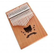 Portable 17 Key Kalimba Thumb Piano Mahogany Musical Instrument Finger Piano with Tuning Hammer for Kids Beginners Music Lovers