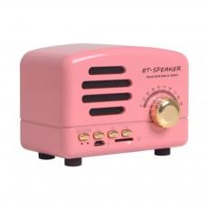 Retro BT-Speaker Multimedia Radio Portable Wireless Bluetooth Speaker Subwoofer with TF Card Slot