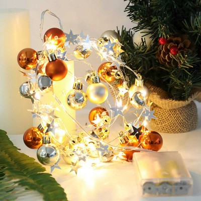 Christmas Bell String Lights USB or Battery Powered LED Fairy Lights with IP54 Waterproof for Indoor Outdoor Xmas New Year Decoration Warm White