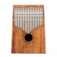 Kalimba 17-Key Thumb Piano Mahogany Tone Solid Wood Finger Piano with Engraved Notes Easy Play for Beginners