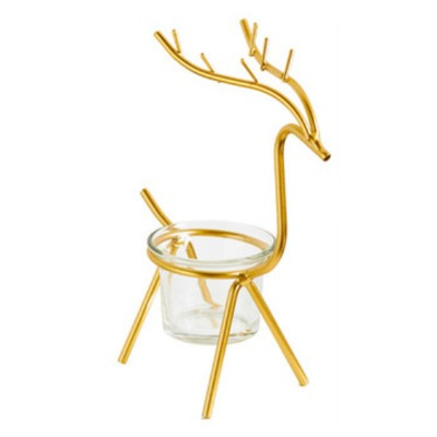 Elk Deer Candlestick Nordic Style Candle Holder Home Decor Ornament for Wedding Dining Table Christmas Party