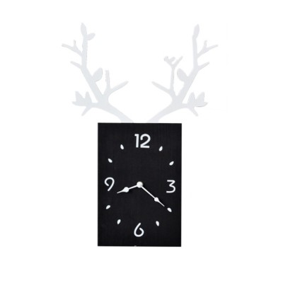 Creative INS Antler Clock Nordic Decoration Wall Hanging Clock with Noiseless Movement for Living Room Office