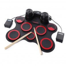 Hand Roll Foldable Electronic Drum Set Grand Mini Drum For Game USB Practice Professional Adult Beginner Best Choice Silicone Electronic Drum