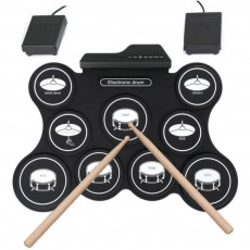 Portable Silicone Hand Roll Up Electronic Drum Kit Foldable Electric Drum Set Usb Mini Practise Musical Drums Sets for Kids