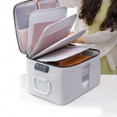 Multifunctional Card Organizer Kit Document Package with Large Capacity and Detachable Inter-layer Passport Packing Box