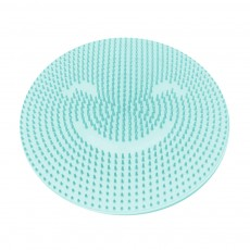 Soft Bath Massage Mat Non-Slip Round Silicone Foot Scrubber Mat with Suction Cups for Skin Cleaning and Massage