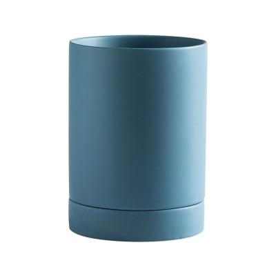 Stylish Ceramic Spoon Chopsticks Tube with Leakage Hole Design Anti-skid Tableware Household Spoon Holder for Kitchen Storage