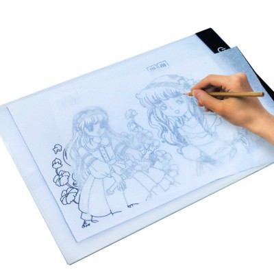 Optical Drawing Board Adjustable Brightness Portable Sketching Template Tool Image Projection Board for Artists Beginners