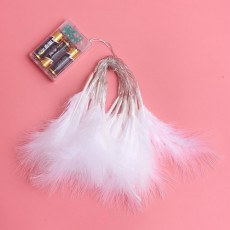 2m Feather Battery Powered 20 LED Color Light String Light Christmas Wedding Holiday Home Decoration String Lighting