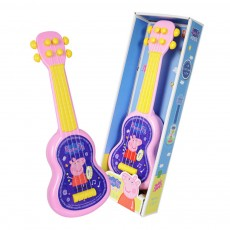 Simulated Mini Guitar Toy for Kids' Gift Choice Peppa Pig Pattern Guitar Toy Small Size Musical Instrument Plaything