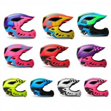 Children's Helmet for Roller Skating, Cycling, Detachable Full Face Helmet Airflow Bicycle Helmets for Kids